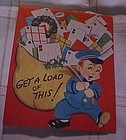 Vintage unused Postman  pop-up Christmas card