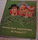 Vintage  50's pop out Christmas New Years card carolers
