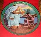 Garfield plate I'll rise but I wont shine  Danbury Mint