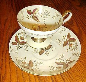 Occupied Japan American Beauty demitasse teacup  saucer