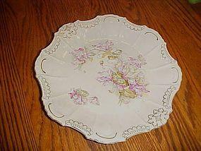 Antique fancy plate with soft florals relief  trim