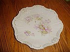 Antique fancy plate with soft florals relief  trim