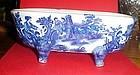 Victoria Ware Ironstone flow blue bath tub soap dish