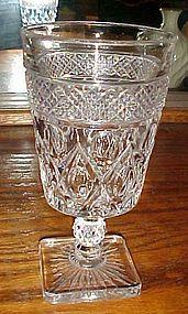 "Imperial Cape Cod fancy ball cut stem Iced Tea glass 6"""