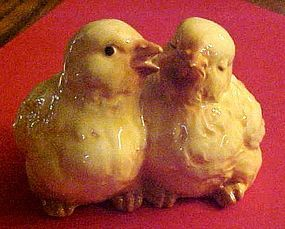 Cute ceramic life size double baby chicks figurines