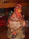 Montana Lifestyles Cowboy Rooster cookie jar