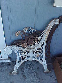 Antique Victorian iron bench ends