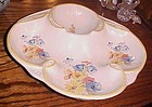 Vintage California Originals floral divided server dish