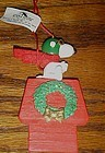 Snoopy  Flying Ace Christmas dog house ornament