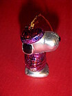 Kurt Adler Snoopy  in purple sweater MINI ornament