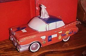 Texas cattle King millionaire cadillac cookie jar