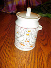 Takahashi ducks with chicken wire background coffee jar