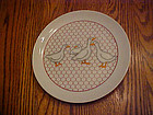 "Takahashi  7 5/8"" salad plate chicken wire with ducks"
