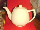 Vintage Bauer speckled yellow teapot PERFECT