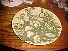 Royal Ironstone Honey Dew Dinner plate green and gold