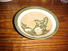Royal Ironstone Honey Dew cereal bowl green and gold