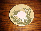 Royal Ironstone Honey Dew saucer green & gold