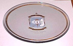 Bob Hope 11th Desert Classic crystal trophy tray1970