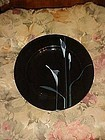 Mikasa Galleria Opus-Black salad plate with Cala lily's