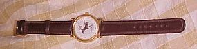 Adorable Dachschund wristwatch leather band nice
