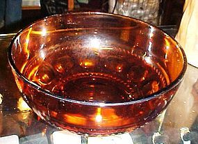 Indiana Kings Crown amber salad bowl