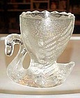 Vintage swan egg cup clear pressed glass