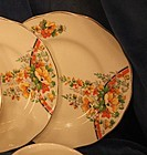 Vintage Grindley Cream petal poppies bread butter plate
