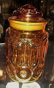 "Amber Moon & Star 9 1/2""  apothecary glass canister"