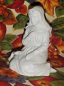 Avon white bisque porcelain Mary nativity figurine