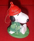 UFS Peanuts  Snoopy in a sled Christmas ornament