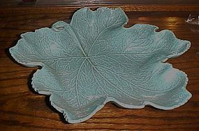 California Originals turquoise  large leaf bowl 719