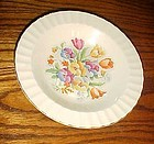 Edwin Knowles Petit point needle point rimmed soup bowl fluted edge