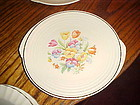 Edwin Knowles Yorktown shape petit point needle point dinner plate