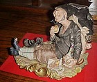 Capodimonte Bruno Merli homeless man wino bum  hobo figurine S 8390