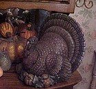 Large old ceramic turkey figurine centerpiece Perfect for Thanksgiving