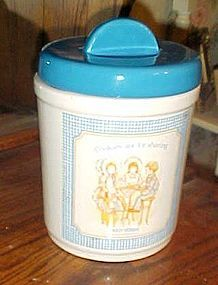Vintage Holly Hobbie Cookies are for Sharing ceramic cookie jar