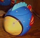CoCo Dowley CIC colorful clown fish cookie jar