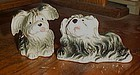 Adorable vintage shaggy dogs salt and pepper shakers