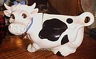 Adorable cute ceramic cow cookie jar