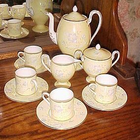 Vintage Wedgewood Demitasse tea set pastel yellow lavender flowers