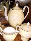 Vintage Wedgewood Demitasse tea set pastel yellow lavender flowers