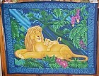 1 yd uncut fabric panel  Disney Lion King new old stock