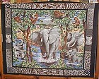 1 yd uncut fabric panel The Elephant Social new old stock