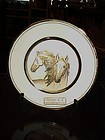 Dynasty Gallery Limited Edition Chokin Art  plate of two Wild Horses