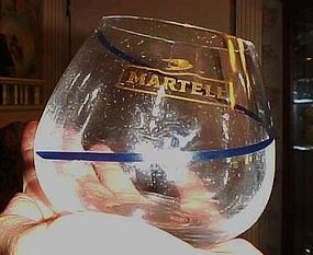 Vintage Martell roly poly cognac glass