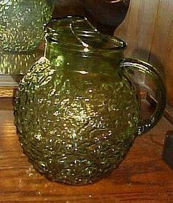 Anchor Hocking avocado Lido ball  beverage pitcher Milano