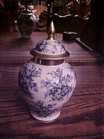 Schumann Bavaria Forget me not chintz ginger jar tea jar