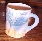 Vintage ceramic childrens ostrich cup mug