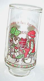 Holly Hobbie Coca Cola glass Christmas is fun for everyone
