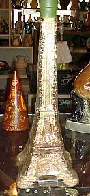 "Eiffel Tower France bottle filled with spices 13"" tall"